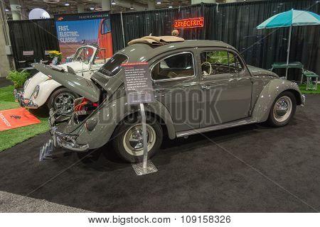 Electric Volkswagen Vintage Classic Beetle