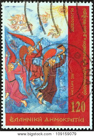 GREECE - CIRCA 2000: A stamp printed in Greece shows Doxology