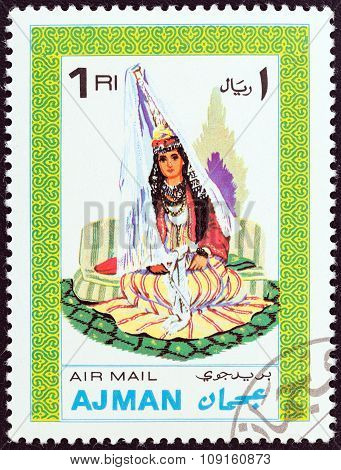 AJMAN EMIRATE - CIRCA 1968: A stamp printed in United Arab Emirates from the
