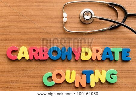 Carbohydrate Counting Colorful Word