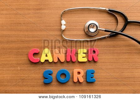 Canker Sore Colorful Word