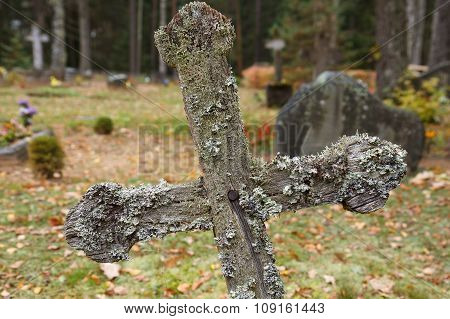 Old graveyard cross
