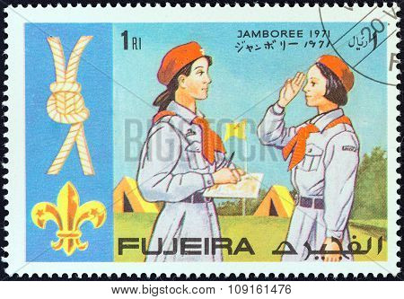 FUJAIRAH EMIRATE - CIRCA 1971: A stamp printed in United Arab Emirates from the