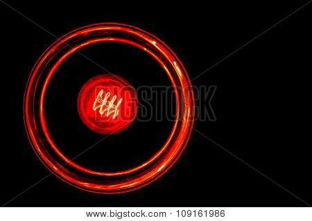 Light Bulb Illuminated Isolated