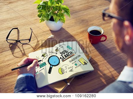 Businessman Job Search Designer Office Working Concept