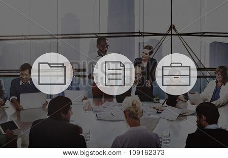 Business Office Folder Files Document Concept