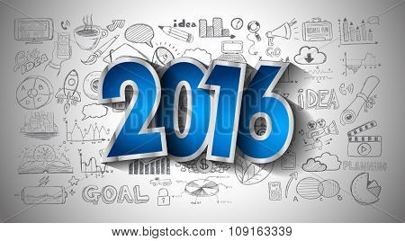 2016 Business Conceptual creative drawing business success strategy plan ideas concept, infographics, isnpiration,modern design template layout, diagram, step options and business solutions