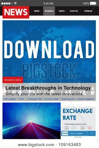 Download Transfer Internet Online Technology Networking Concept