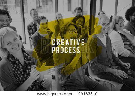 Creative Process Design Brainstorm Thinking Vision Ideas Concept