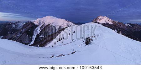 Nature Mountain Peak At Night - Slovakia, Panorama