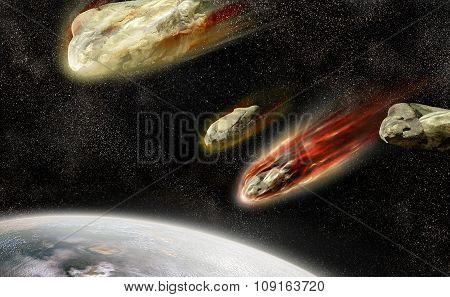 Flaming Meteorites