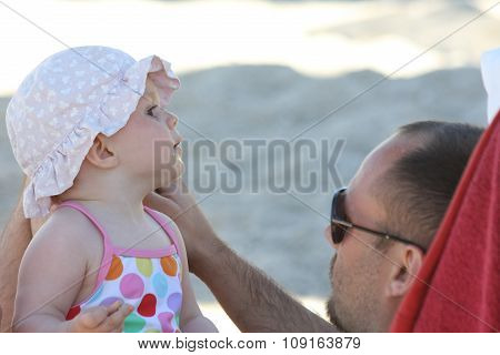 Father With Baby Daughter