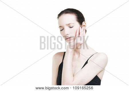 Woman With Toothache. Pain In The Human Body