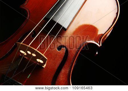 Violin on dark background
