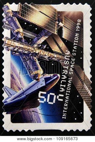 AUSTRALIA - CIRCA 2007: A stamp printed in Australia sshows international space station 1998