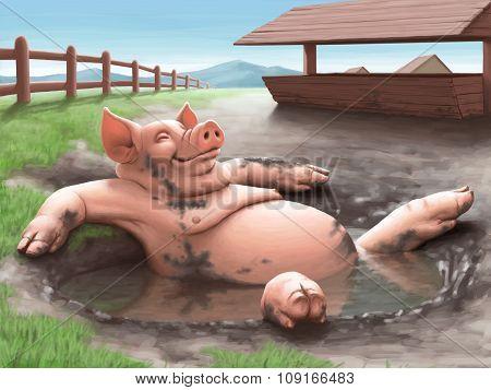 Illustration - Pig