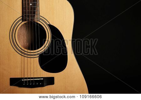 Guitar on black background