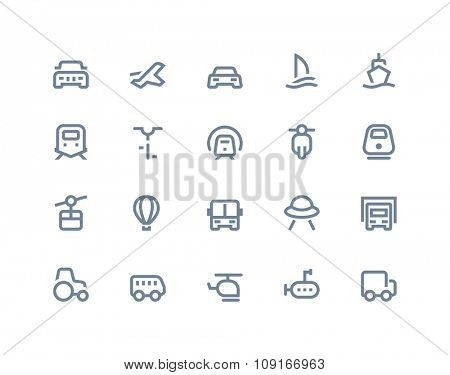 Transportation icons Line series