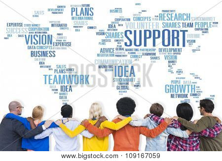Global People Friends Togetherness Support Teamwork Concept