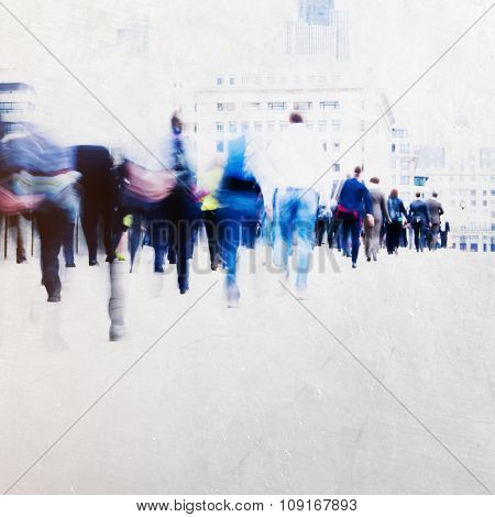 People Walking Commuter Busy Concept