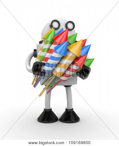 Robot with rockets