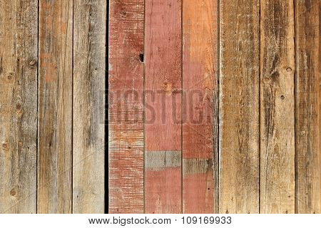 Old Wooden Washed Out Wall