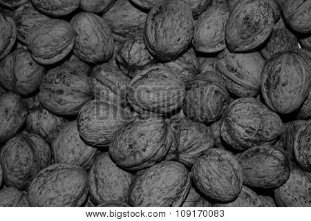 Walnuts black and white
