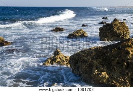 Coastal Landscape In The Evening During Ebb