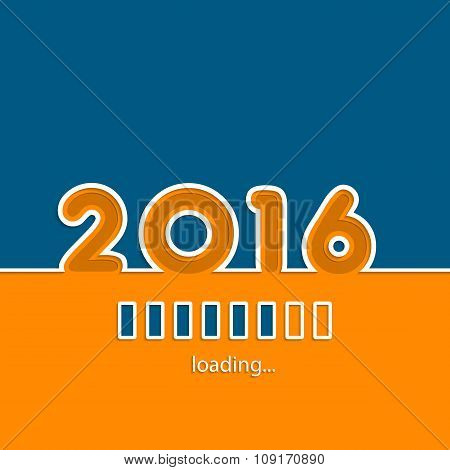 New Year 2016 Loading Background