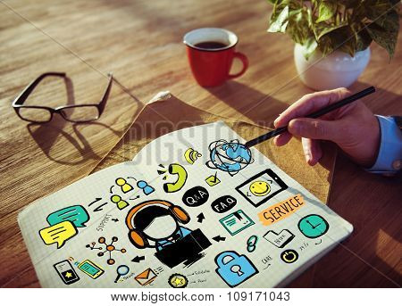 Customer Service Help Business Service Solution Support Concept