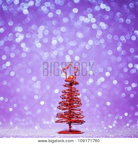 Red christmas fir tree decoration