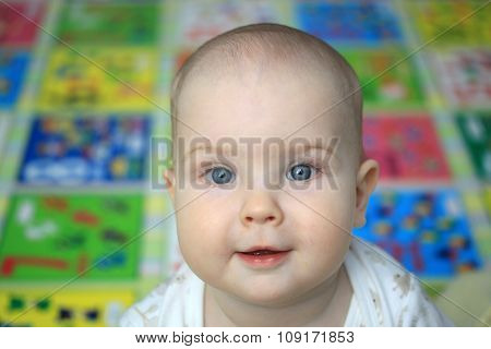 Portrait Of A Surprised 10-months Baby