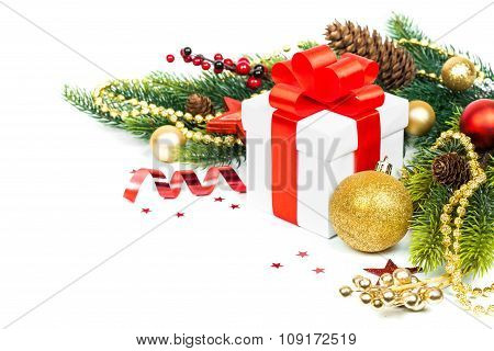 christmas gift with decoration
