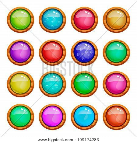 Set Of Game Buttons