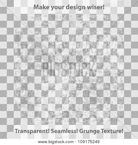 Grunge and checkered seamless patterns