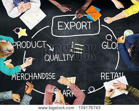 Export Product Merchandise Retail Quality Concept