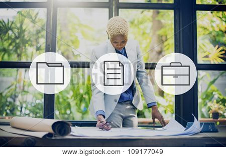 Business Office Folder Files Document Concept