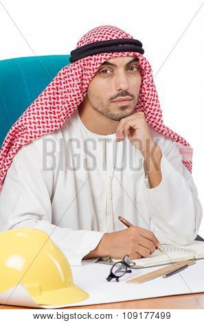 Arab man working in the office