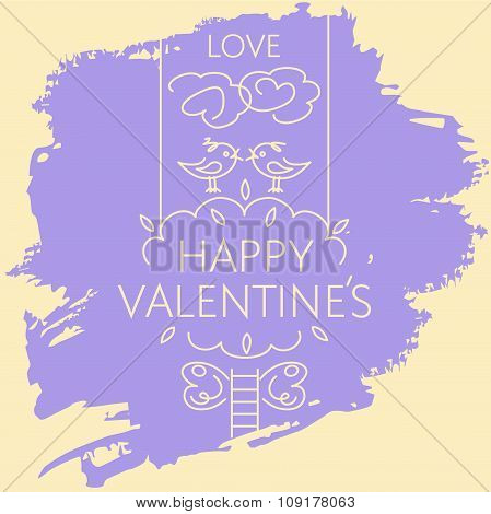 Happy valentine day card.