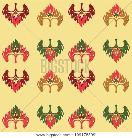 New year 2016 seamless pattern with monkey mask.