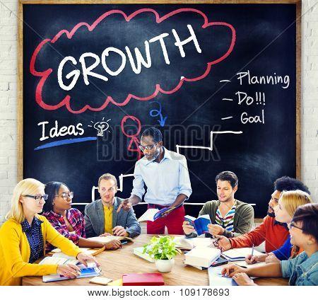 Growth Planning Ideas Goal Development Concept