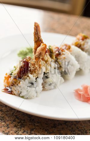 Shrimp Tempura Avocado Sushi Roll