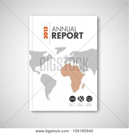 Modern Vector abstract brochure / report design template with minimalist world map