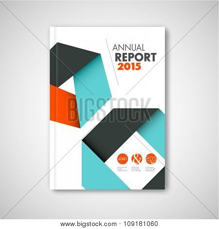 Modern Vector abstract brochure / report design template with abstract shapes