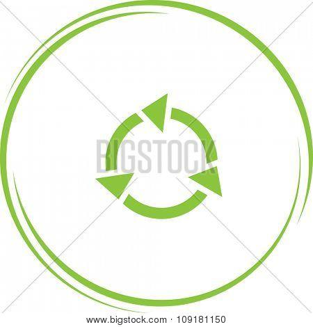recycle symbol. Internet button. Vector icon.