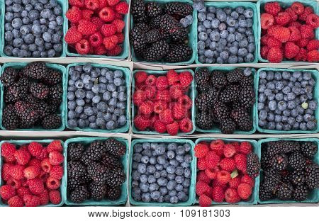 Strawberries Blueberries Blackberries