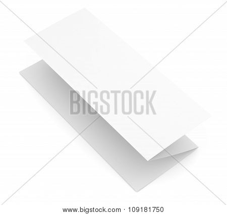 Blank paper booklet on white