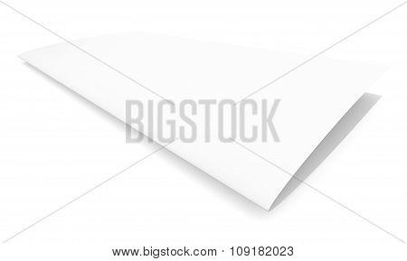 Blank paper brochure on white