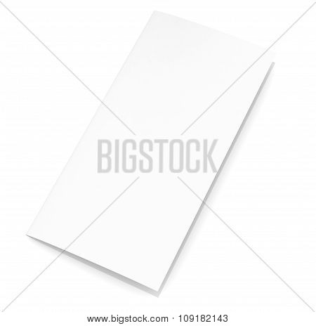 Blank paper brochure on white background