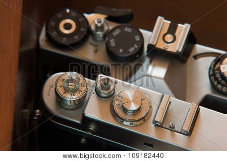 Controls Of Old Photographic Devices